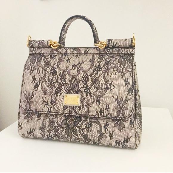 b51e5c050ca Dolce & Gabbana Bags   Dg Miss Sicily Laceprint Satchel   Poshmark